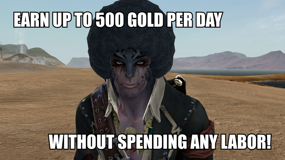 Archeage Gold Guide: 500 gold per day, labor free!